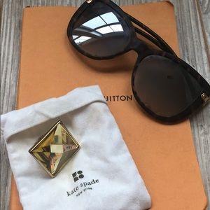 Kate Spade Gold Jewel Ring